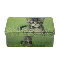 Pet food storage metal tin box&Pet food storage box for cat/ dog