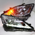 Lexus IS250 IS300 IS350 LED Head Lamps with Projector Lens 2006-2012 Year Chrome housing