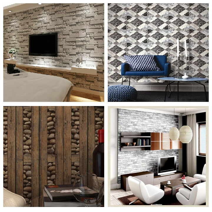2015 Wholesale waterproof home decoration pvc 3d wallpaper