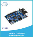Banana PI M64 Single Board Computer with Quad-core Processor Running Android, Linux