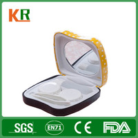 cute contact lenses tin container/glasses tin box manufacturer