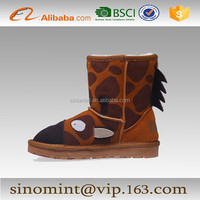 sexy animal women and girl half snow boots
