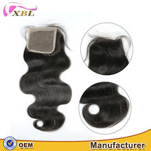XBL good feedback silky real human hair brazilian hair closure piece