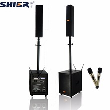 Professional active stage amplifier speakers with DSP system and UHF wireless microphone
