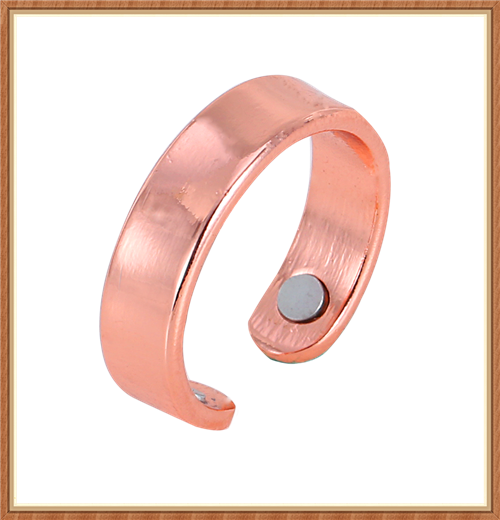 Plain Cuff copper ring with magnets