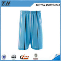 Dye sublimation basketball shorts with polyester knitted fabrics