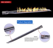 Stainless Steel straight double burner gas burner tube for barbecue stove