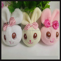 small cute girls plush toy keychian rabbit toy keychians for gifts