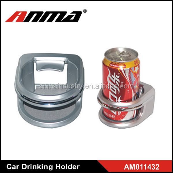Silver Clip-on Car Drink Holder Cup Bottle Can Holder