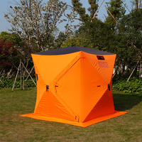 Good Price Outdoor windproof Winter Camping Hiking Ice Cube single Fishing Tent