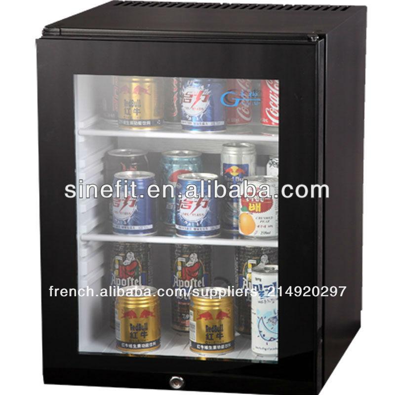 chambre d 39 h tel 40l mini frigo bar avec porte en verre autres fournitures restauration. Black Bedroom Furniture Sets. Home Design Ideas