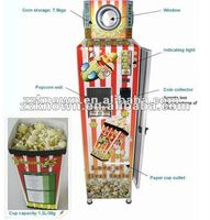 Park popular automatic popcorn vending machine with coin operated CE and ISO from factory
