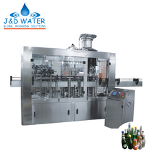JND / OEM Voltage 380V 220V Glass Bottle Washing Filling Capping Machine
