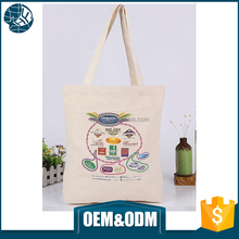 China promotional recycled customized printed standard size cotton tote bag