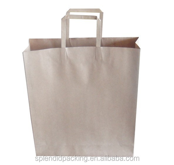 China Factory Recyclable Handmade Solid Color Kraft Paper Bag Manufacturers