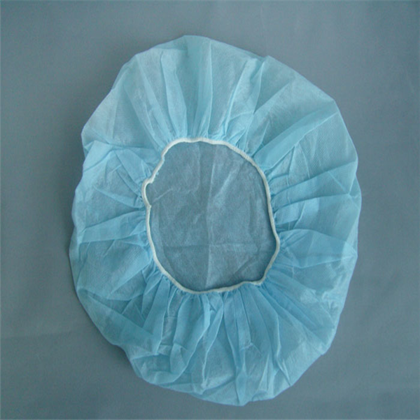 Medical disposable clothing surgical nonwoven spunlace mesh scrub caps, hair nets, bouffant cap