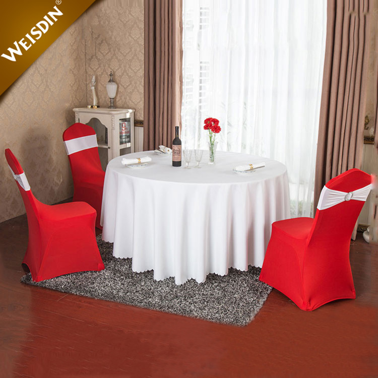 Guangzhou wholesale custom christmas restaurant table linen round wedding table cloth cover