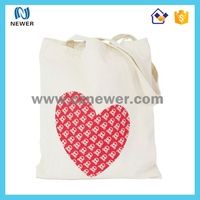 Custom logo printing trendy standard size cotton canvas fabric tote bag