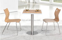 3 PCS Commercial used square MDF dining furniture for sale (FOH-BC05)