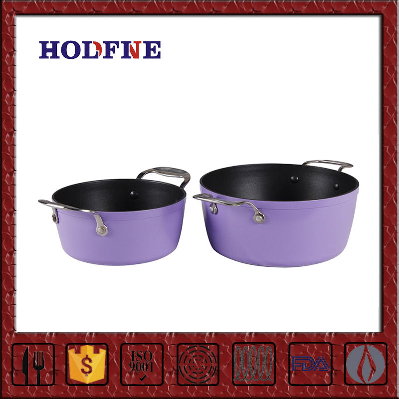 Professional Production Diverse Styles Exquisite Workmanship Cooking Non-Stick Two Handles Saucepan