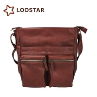 Leather Shoulder Bags with Lots Pockets for Female