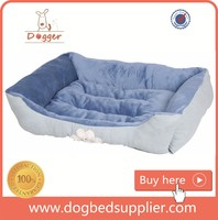 2016 New Factory Price Plush Dog Bed with Paw Printing