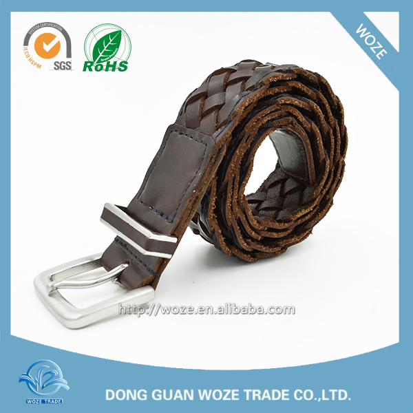 Hot sale Casual men's woven leather belts