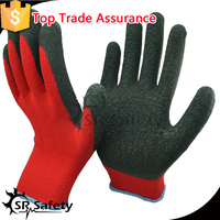 SRSAFETY 10g color crinkle latex palm coated building work glove,blue safety building working gloves