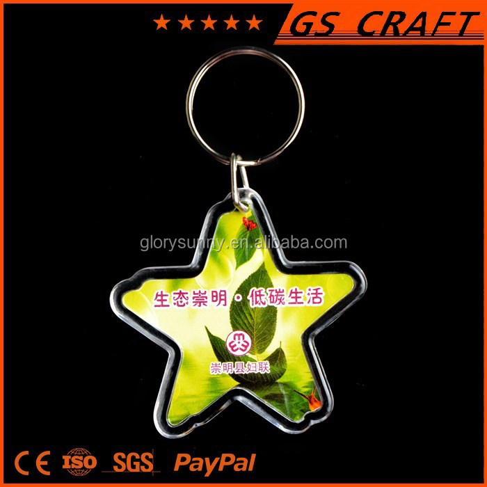 OEM fashion wholesale star key chain