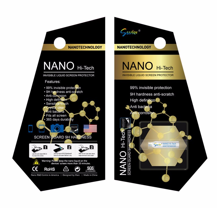 Shenzhen factory nanotechnology liquid screen protector for mobile phones accessories