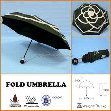 UV proof special logo print drink ladies flowers automatic fold umbrella