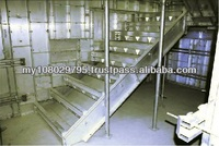 Fully Monolithical Casting From The Wall, Slab and Stair, Aluminum Formwork