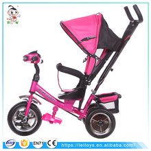 2017 Occident new hot sale easy to use 4 in 1 3 wheels baby trikes steel child tricycle baby tricycle with light