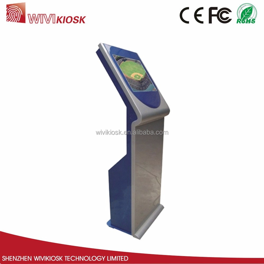 17 inch silver inquiry Information kiosk with touch screen in airport