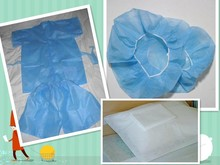 Nonwoven PP Coated PE disposable safety Overall Protect From Ebola Virus