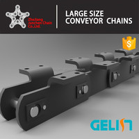 LBW OEM Manufacturing Large Size cranked link chain nonstandard conveyor chain