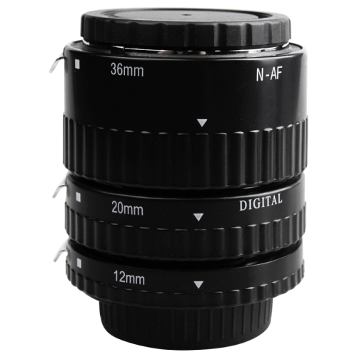 Elegant design From China, 3 Rings Macro Extension Copper Tube Set for Nikon All Lens 12mm + 20mm + 36mm Ring