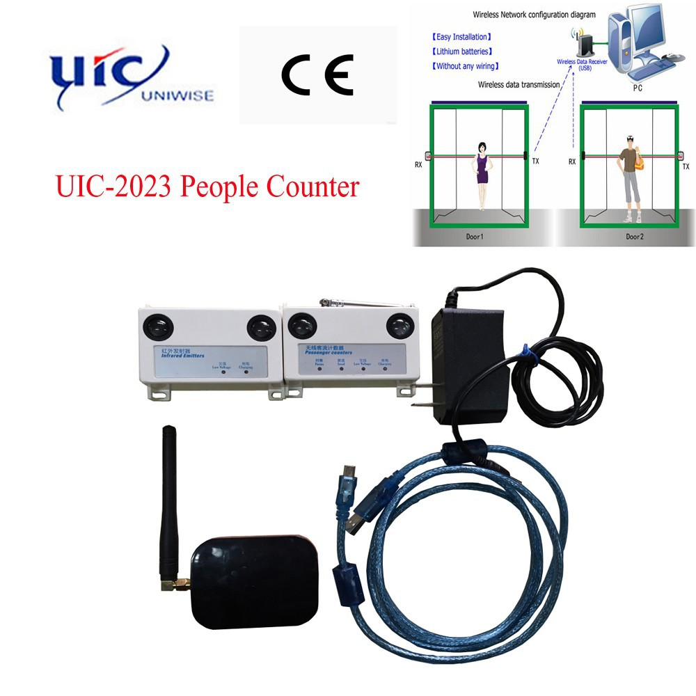 UIC2023 High quality infrared wireless customer counting system electronic people counter