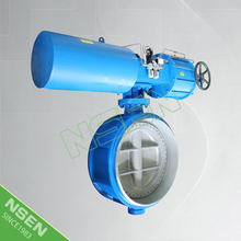 NSEN High Quality Triple Offset Vacuum Butterfly Valve With Pneumatic Actuator