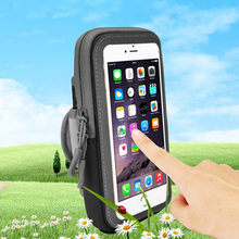 Universal Zippered Sports Armband Running Arm Band Bag Pouch Cover for Iphone 7 Jogging Case