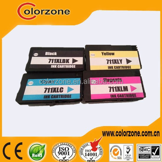 Wholesale china compatible hp 711 ink cartridge for hp T120 T520