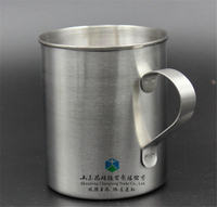 450 mL Customized Logo Stainless Steel Cups With Lips And Handle Beer Personalized Kids Cups With Handle
