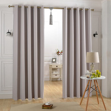 Block Sunlight and Ultraviolet Grommet Thermal Insulated 100% Polyester Window Curtain