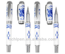 2013 carving delicate gift pen&blue and white porcelain pen