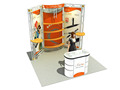 China factory customized economical design for various size of exhibition booth