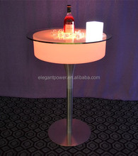Elegant power round led cocktail bar table for party and event