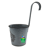 decorative garden small hanging metal flower pots for balcony