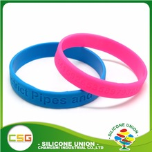 Manufacture cheap wholesale debossed discount silicone wristbands