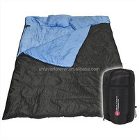 adult outsunny 2 person double wide sleeping bag with pillows