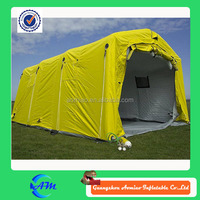 Yellow cover inflatable event tent, inflatable military tent, inflatable medical tent